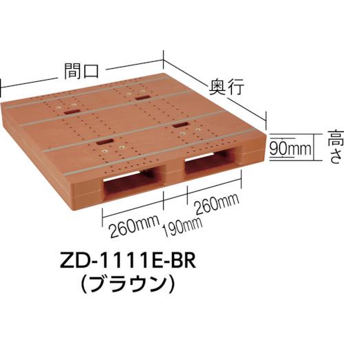 NPC プラスチックパレットZD-1111E 片面ニ方差し ライトグリーン(ZD1111ELG)