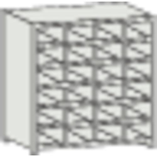 TRUSCO KB型区分棚コボレ止め付 889X264XH927 4列6段(KB4063)
