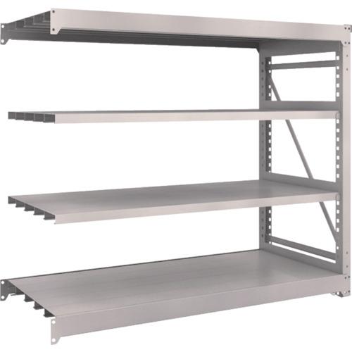 TRUSCO M10型重量棚 1800X760XH1500 4段 連結 ネオグレ(M105674B)