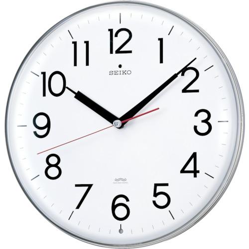 SEIKO アクリルカバー電波掛時計 直径294×47 白(KX301H)