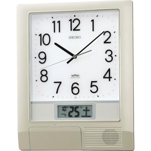 SEIKO 電波プログラムクロック 429×345×57 銀色メタリック(PT201S)
