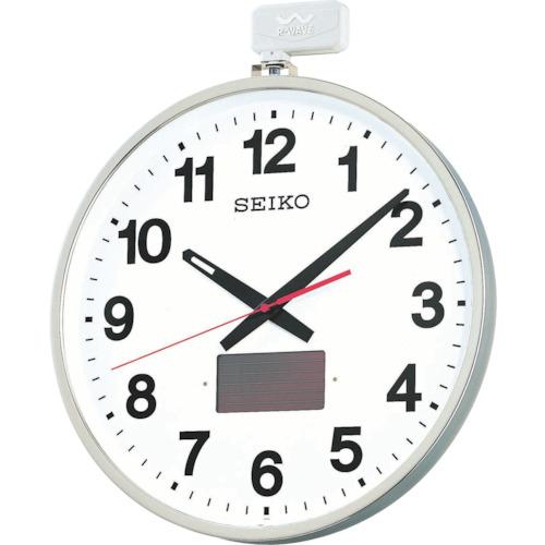 SEIKO ソーラー屋外用大型電波掛時計 527×450×78 金属枠(SF211S)