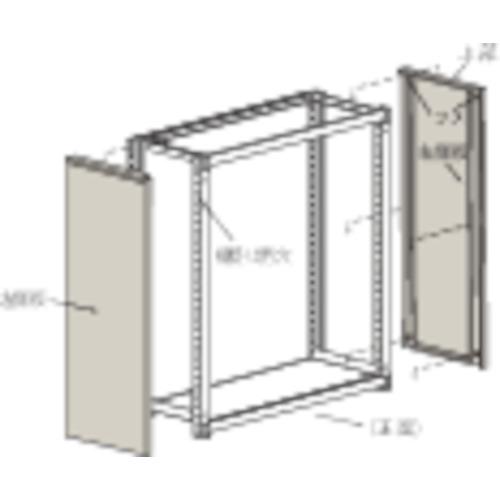 TRUSCO M2型棚用はめ込み式側板 300XH1800 ネオグレ(GM263)