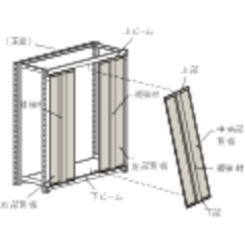 TRUSCO M2型棚用はめ込み式背板 W1200XH1800 ネオグレ(SM264)
