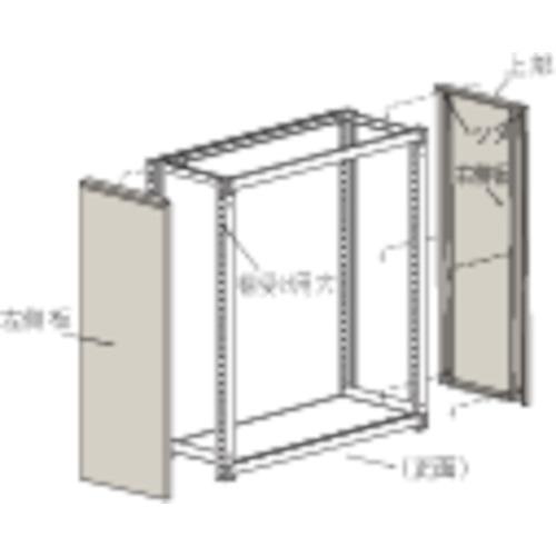 TRUSCO M3・M5型棚用はめ込み式側板 900XH1800 ネオグレ(GMM69)