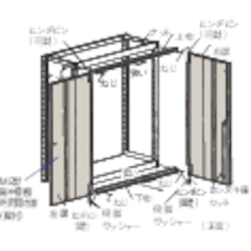 TRUSCO M2型棚用両開き扉 W1800XH1800 ネオグレ(DM266DX)