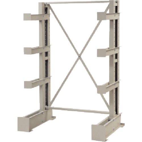 TRUSCO 長尺保管棚 4段 ミニ 基本 ネオグレ(VR9141R)