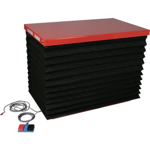 TRUSCO テーブルリフト1000kg 油圧式 650X1200 蛇腹付(HDL1000612J)