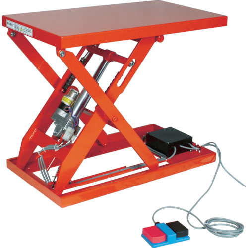 TRUSCO テーブルリフト100kg(電動Bねじ式200V)520×850mm(HDLH1058V22)