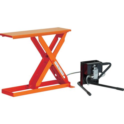 珍しい TRUSCO スリムリフト150kg 足踏式 700X300(HLHS153007):ペイントアンドツール-DIY・工具