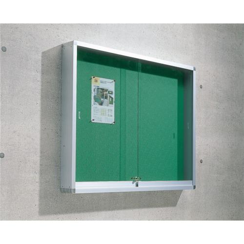 TRUSCO 屋外掲示板 アルミ製シルバー枠 1230X100X930壁付タイプ(FUK34H)