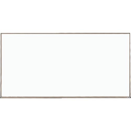TRUSCO スチール製ホワイトボード 白暗線 ブロンズ 900X1800 黒(WGH102SA)