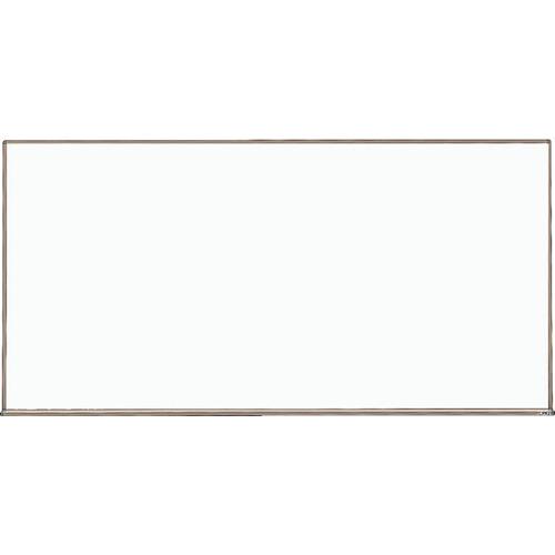 TRUSCO スチール製ホワイトボード 白暗線 ブロンズ 600X900 黒(WGH122SA)