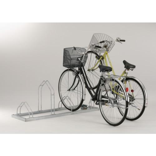 ダイケン 平置き自転車ラック前輪差込式サイクルスタンド 6台収容ピッチ400(CSM6)