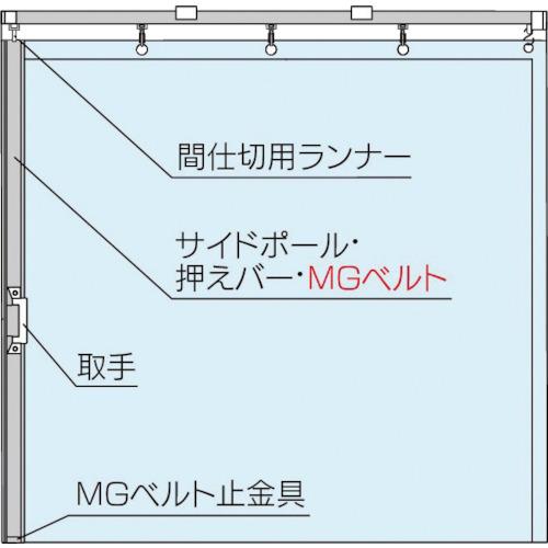 岡田 大型間仕切ポールセット(D40用)片開セット 3.5m(90NS35)