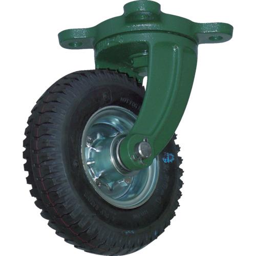 TRUSCO 鋼鉄製運搬車用空気タイヤ 鋳物金具自在Φ223(2.50-4)(OARJ223)