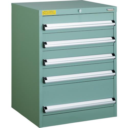 TRUSCO VE6S型キャビネット 600X550XH800 引出5段(VE6S805)
