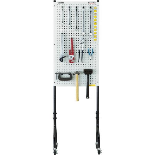 TRUSCO ライトパンチングパネル パネリーナ両面式 キャスター付(TUR2C)