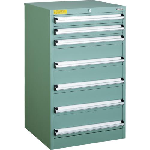 TRUSCO VE6S型キャビネット 600X550XH1000 引出7段(VE6S1008)