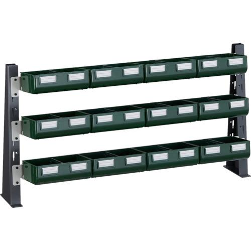 TRUSCO UPR型ライトビンラック卓上用 K-20GX12個(UPRML1803GL)