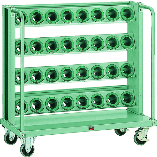 ブランド品専門の TRUSCO ツーリングワゴン BT・NT40兼用 40個収納 ロック付 W色(VTLW410AW):ペイントアンドツール-DIY・工具