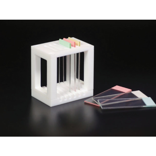 フロンケミカル PTFE スライドグラス用染色バット掛 73×50×75(NR1362002)