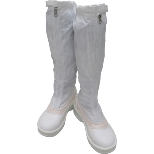 ゴールドウイン 静電安全靴ファスナー付ロングブーツ ホワイト 26.0cm(PA9850W26.0)