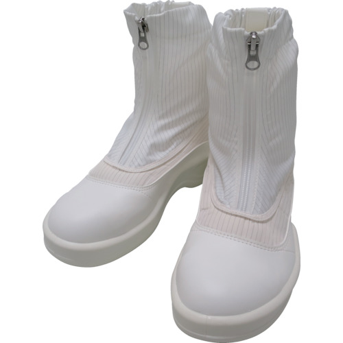 ゴールドウイン 静電安全靴セミロングブーツ ホワイト 24.5cm(PA9875W24.5)