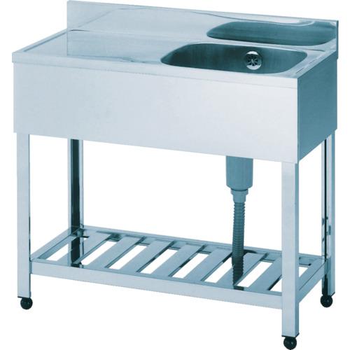 アズマ 一槽水切シンク左水槽 900×450×800(KPM1900L)代引き不可・個人宅配送不可