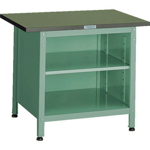 TRUSCO OW型小型作業台 棚板付 900X600XH740(OW9060B)