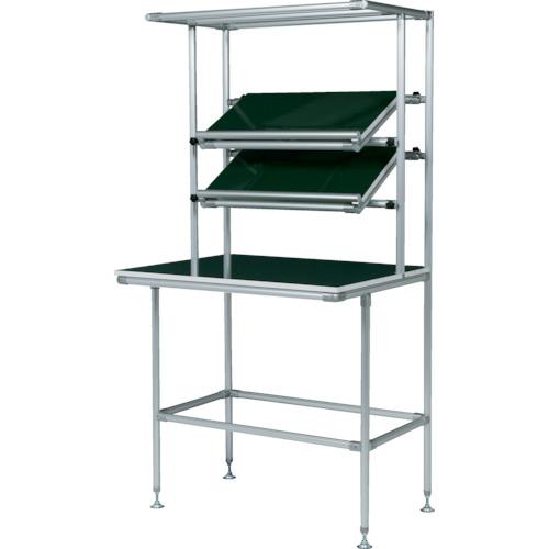 SUS セル生産作業台傾斜棚付 棚板・作業ボードあり(GFTR2880002)