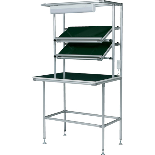 SUS セル生産作業台傾斜棚付 棚板・作業ボードあり 照明50Hz(GFTR2880003)