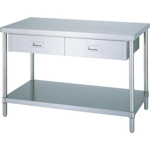 シンコー ステンレス作業台片面引出付ベタ棚(ADB7545)