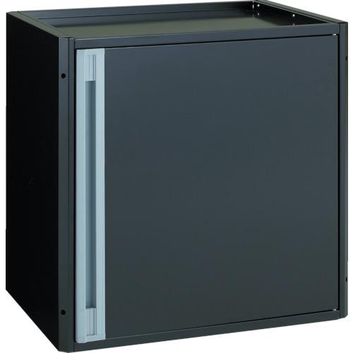TRUSCO カスタムワゴン用 開き戸キャビネット ブラック(中棚板付)(TACTSETBK)