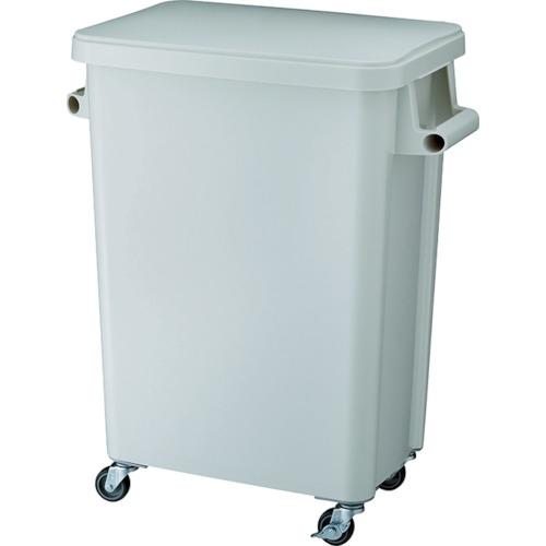 リス 厨房用キャスターペール70L 排水栓付 グレー(GGYK005)