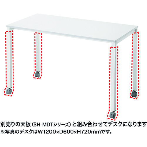 SANWA SH-MDキャスター脚 (SHMDL80C)【サンワサプライ(株)】
