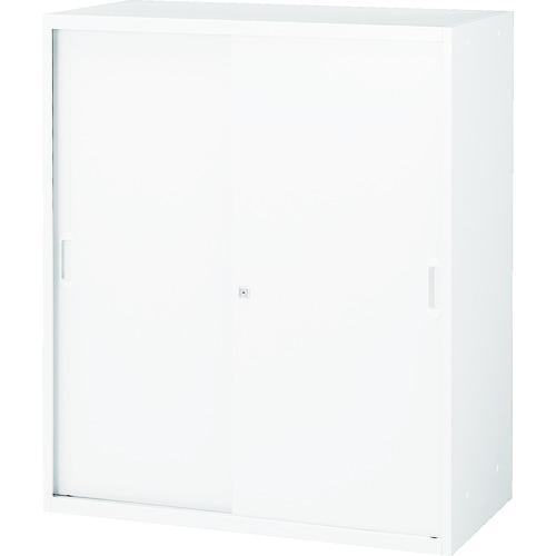 TRUSCO ユニット型壁面書庫 D400 スチール引違い H1050 W色 (UFSW11)【トラスコ中山(株)】