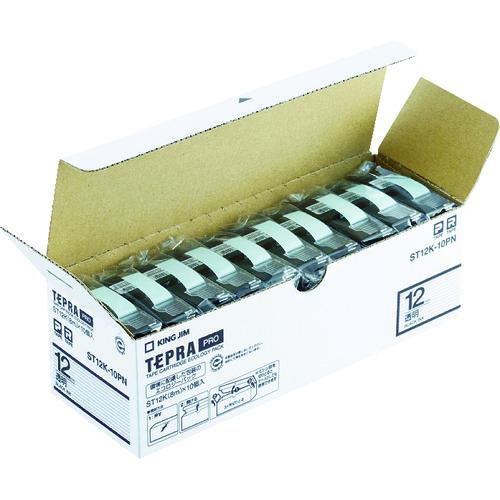 キングジム 「テプラ」PROテープエコパック(10個入り)透明 (ST12K10PN)