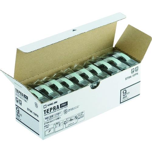 キングジム 「テプラ」PROテープエコパック(10個入り)透明 (ST9K10PN)