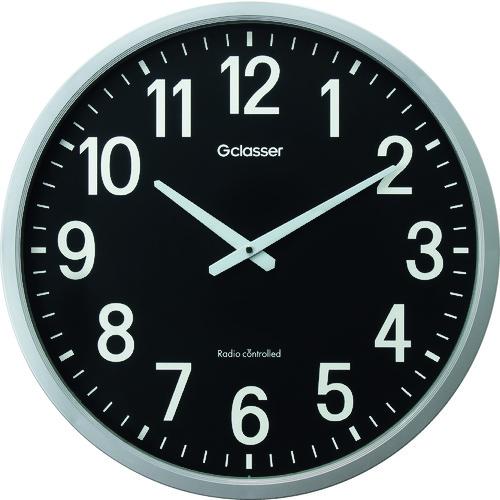 キングジム 電波掛時計 ザラージ黒文字盤 (GDK001K)