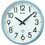 SEIKO 電波掛時計 直径390×52 P枠 銀色半光沢 (KS265S)