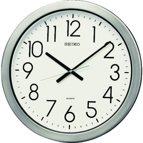 SEIKO 防湿・防塵型オフィスクロック 直径444×44 金属枠 (KH407S)