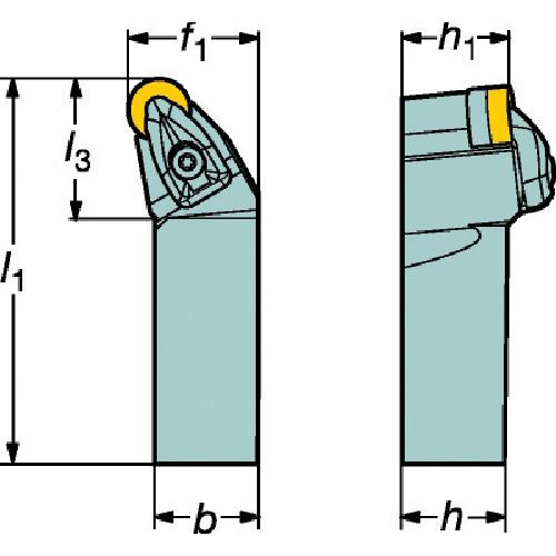 サンドビック コロターンRC ネガチップ用シャンクバイト(DRSNR2525M12)