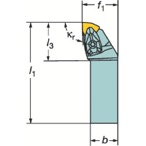 サンドビック コロターンRC ネガチップ用シャンクバイト(DWLNL2525M08)