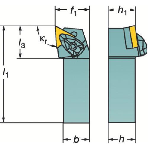 サンドビック コロターンRC ネガチップ用シャンクバイト(DTGNR2525M22)