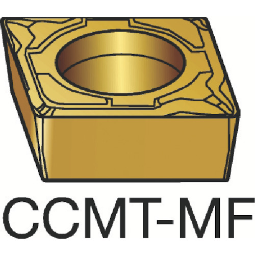 サンドビック コロターン107 旋削用ポジ・チップ 1105 COAT(CCMT09T304MF)