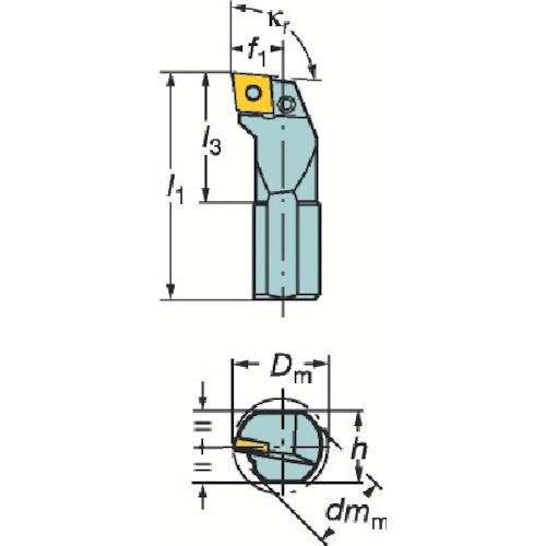 サンドビック T-Max P ネガチップ用ボーリングバイト(S20SPCLNL09)