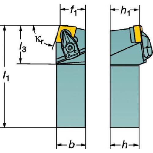 サンドビック コロターンRC ネガチップ用シャンクバイト(DCBNL2525M12)