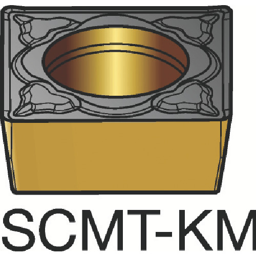 サンドビック コロターン107 旋削用ポジ・チップ H13A 超硬(SCMT120408KM)