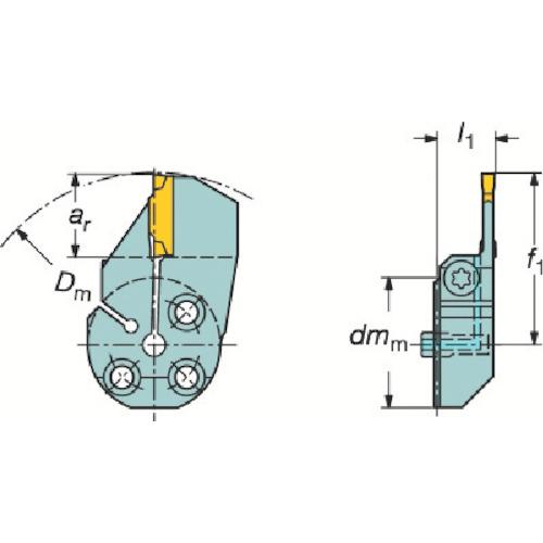 サンドビック コロターンSL コロカット1・2用突切り・溝入れブレード(57040L123H23B)